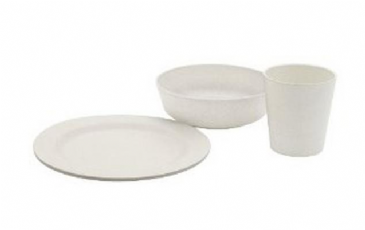 Outwell Breakfast Bamboo Dinner Set 2 Persons
